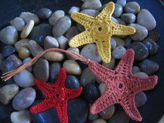 crochetroo: Orange Sea Star. ☀CQ #crochet #applique #beach http://pinterest.com/CoronaQueen/crochet-applique-corona