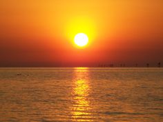 Image detail for -Beautiful Orange Sunset~On Hudson Beach, Florida~, beach, florida ...