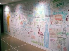 """Another """"caption this"""" Friday on our Facebook page with this awesome whiteboard mural from Inhabitat.com."""