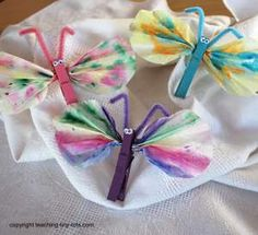 Toddler Activities: Colorful Butterflies to Welcome Spring from Teaching Tiny Tots