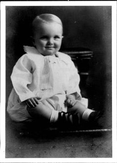 Truman Capote as A Baby Press Photo