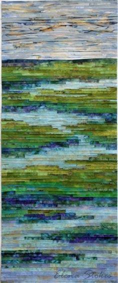 liturgical paraments - Elena Stokes - Tranquil Marsh - Wild Iris