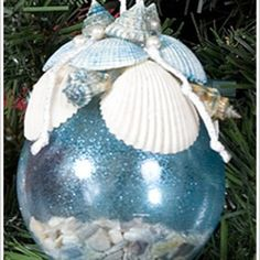 one day i want to create this sea shell craft with the shells i've collected | FaveCrafts.com