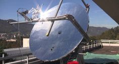 A Solar Dish That Makes Electricity And Fresh Water