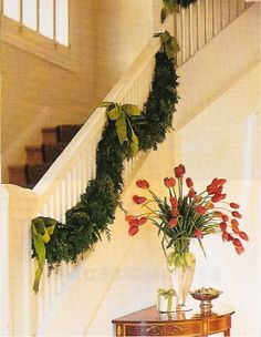 Bows, greenery, stairs