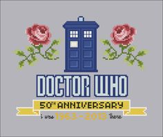 Doctor Who 50th Anniversary parody Cross stitch by cloudsfactory
