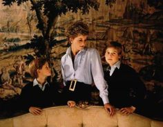 Lady Di and sons