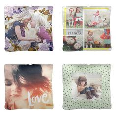 These throw pillows complement any home's decor while showcasing your beautiful family