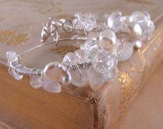 MOONBEAMS sterling silver gemstone earrings moonstone white topaz $68