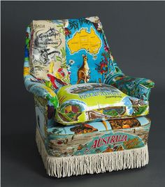 tourist scarves become a kitschy armchair?