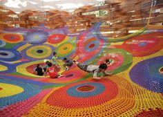 Crocheted Playgrounds by Toshiko Horiuchi MacAdam