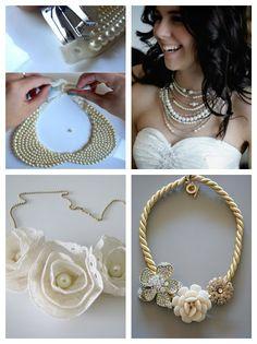 DIY necklace tutorial idea, craft, diy tutorial, pearls, diy necklace, pearl necklaces, diy jewelry, wedding necklaces, diy projects