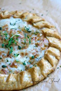 Caramelized Onion Tart with Gruyere and Fresh Thyme