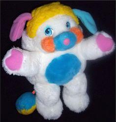 Vintage 1986 White Puffball Popples Stuffed Animal Plush 80's Toy Mattel   eBay