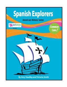 Spanish Explorers is a core aligned reading-based unit with 12 COMPLETE lessons. We've given students all of the content and a balanced mix of higher and lower level core-aligned activities to learn about these Spanish Explorers: Christopher Columbus, Amerigo Vespucci, Vasco Nunez de Balboa, Juan Ponce de Leon, Ferdinand Magellan, Hernando Cortes, Francisco Pizarro, Cabeza de Vaca, Hernando de Soto, Francisco de Coronado, Juan Cabrillo, The Future of New Spain.