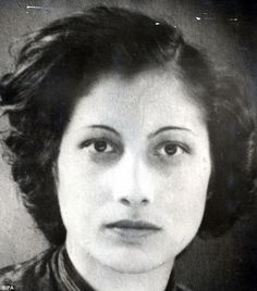 Noor Inayat Khan, the British agent who ran a spy network in Paris.     For ten months she was tortured by the Gestapo desperate for any information about SOE operations, but she stood firm and was eventually executed at Dachau concentration camp on September 13, 1944, aged just 30.