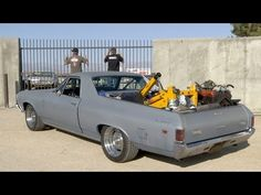 In this episode of Roadkill, Freiburger and Finnegan drive a '69 El Camino 500 miles on 7 cylinders, change the engine in the parking lot of Summit Racing, and head back home. Hilarity ensues. #roadkill #hotrod #davidfreiburger #freiburger #mikefinnegan #finnegan #1969chevy #1969elcamino