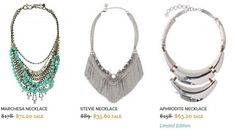 24-HOUR FLASH SALE! Good Morning America's Tory Johnson featured Stella & Dot this morning on her Deal of the Day segment and we are offering a special flash sale. Showcased were the incredible Marchesa, Stevie, and Aphrodite* (* FIRST TIME REVEAL) necklaces, and for 24 hours. YOU can purchase these pieces at 60% off - but only from 7AM ET TODAY to NOON ET TOMORROW. Search for them by name at www.stelladot.com/bishposh. No coupon code needed