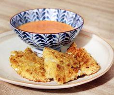 Gluten-free Fried Fish with Spicy Garlic Aoli