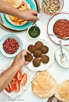Falafel and pickled onions