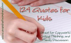 Free Copywork eBook: 124 Quotes for Kids