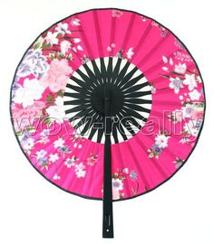 Oriental Unique Silk Hand Bamboo Fan