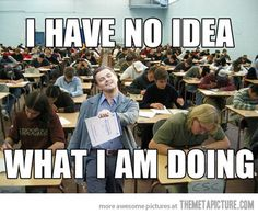 Every time I ever turned in a test.