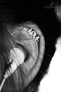 cartilage piercing jewelry   Cartilage Piercing With Love Jewelry