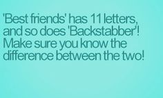 Backstabber best friend's quote