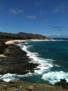 blowhole and sandy's beach  Oahu,HI