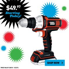 Shop this Black & Decker cordless drill and other great tool values online now!