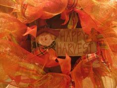 Kristen's Creations: Tutorial on Ribbon/Mesh Wreath...Easy!