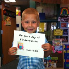 First day of kindergarten picture!!