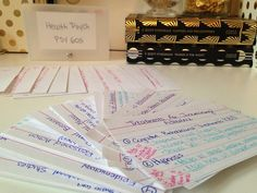 how to make cue cards for studying