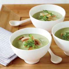 This spicy avocado-cucumber soup is an excellent make-ahead dish.