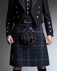 Groom man and groom kilt. Scotland national kilt