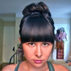 A step-by-step tutorial on cutting and styling your bangs at home!