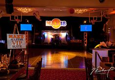 Basketball Themed Bar Mitzvah Decor featured on FAVORITE THINGS #barmitzvah