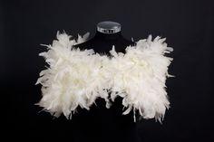 Oh La La.....  PARISIAN VINTAGE CHIC 1930s Glamour - Ivory- Ostrich Feather Ruffle Stole Wrap Shrug. $155.00, via Etsy.