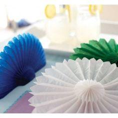 """Tissue Paper Decorations - 10"""" Decorative Paper Tissue Fans"""