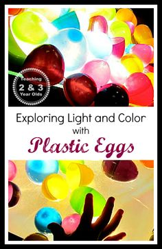 activities for kids, plastic egg, easter eggs, light table