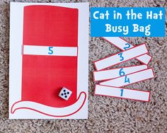 Dr. Seuss Cat in the Hat busy bag
