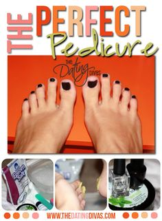 Directions for a quick and easy DIY pedicure.  Just in time for sandal season!  www.TheDatingDivas.com  #DIY #pedicure #datingdivas