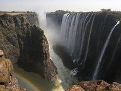 The gorge at Victoria Falls, Africa<3
