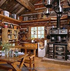 Cozy Kitchen Cabin Kitchens Rustic Kitchens Country Kitchens Log Cabin