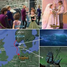 Tangled ~ Frozen ~ Little Mermaid. The connection
