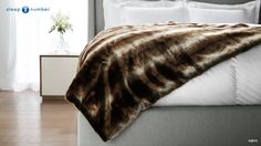 Wrap yourself in luxurious warmth with the beautiful #SleepNumber Faux Fur Throw.