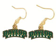 #Baylor Bears Logo Earrings