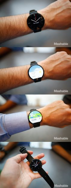 We got our hands on the new Moto 360. Here are some of the smartwatches features.