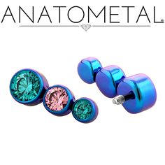 - Threaded Bezel-set Gem Ends - ANATOMETAL - Professional Grade Body Piercing Jewelry